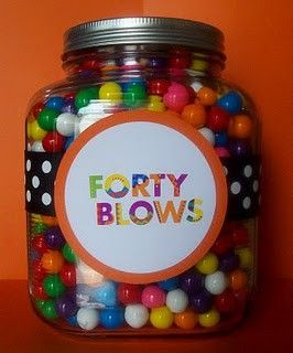 Forty Blows (gumball jar) - A great DIY Birthday gift for the coworker LOL!!!!  this is great!