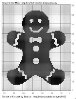 Free Filet Crochet Charts and Patterns: Gingerbreadman Filet Crochet