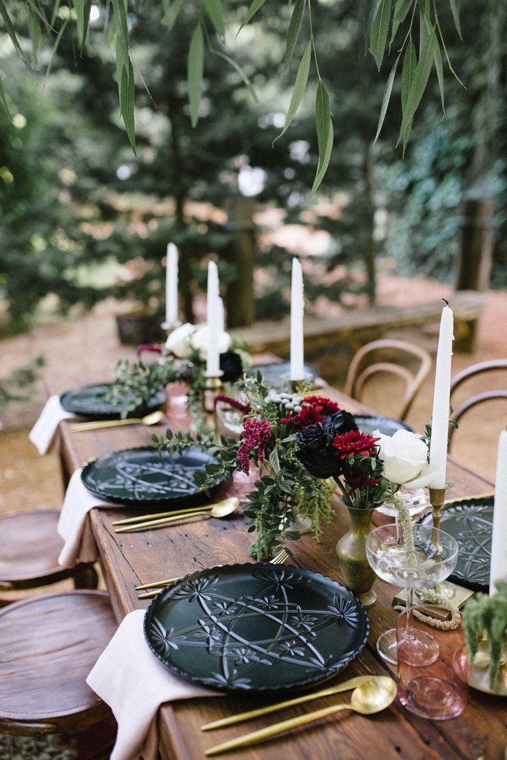Romantic Outdoor Winery Ideas With Marsala - Polka Dot Bride   Photo by Amanda Afton http://amandaaftonphotography.com/