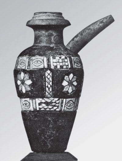 Каменный сосуд с цветными инкрустациями. Урук (Варка). Кон. IV тыс. до н. э.