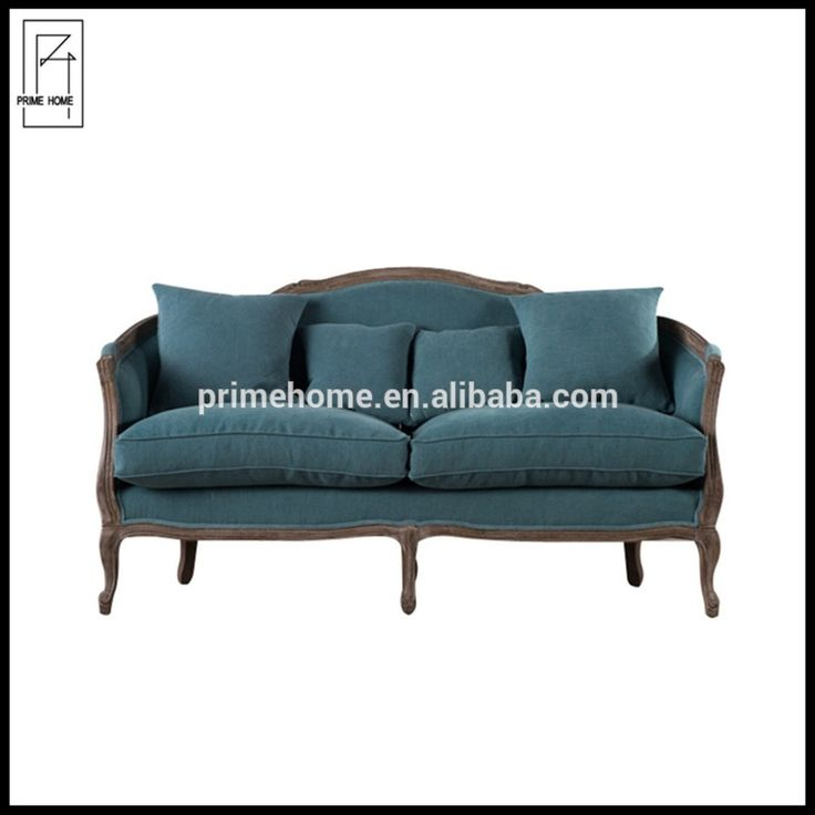 French cottage provincial style linen sex sofa from goodlife,hotel project reception sofa