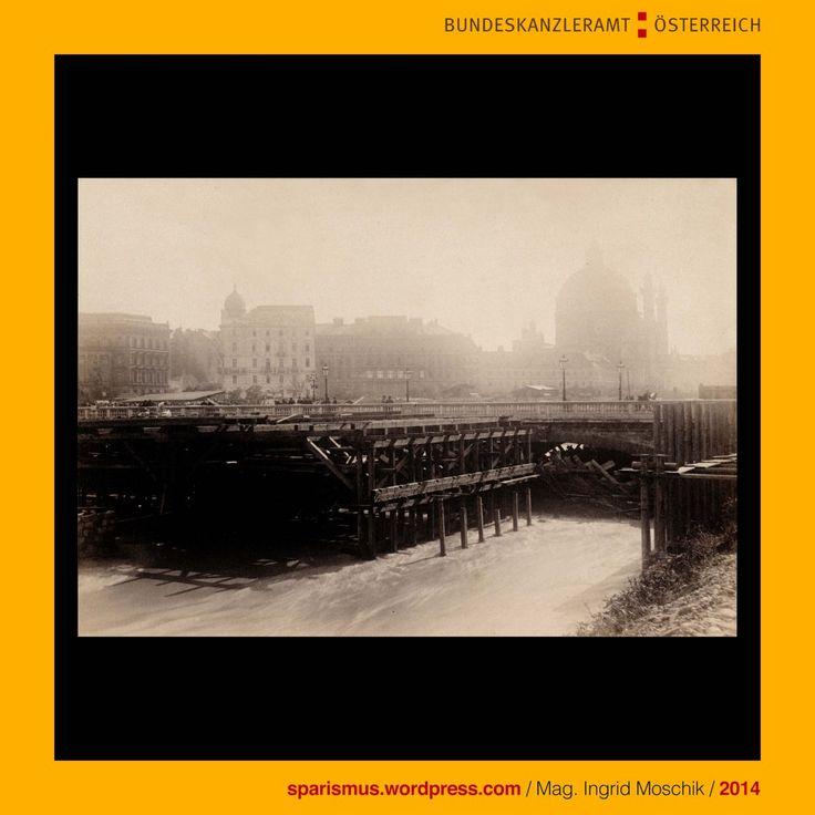Gustav Broser (aktiv als Wiener Photograph von etwa 1890 bis etwa 1925), Wien III. Landstrasse, Hauptstrasse 23, Broser, Bröser, Brius, Broos, Bros, Ambros, Ambrose, Ambrosio, Ambrosius, Ambrosia, ( a + mbrotos, a + mortos, Amorsia), Amrita, Wienfluss, Jahrhundert-Hochwasser, Hochwasser am 30. Juli 1897, clausum, clusum, Klause, Kluse, Wehr, Verklausung, Verklusung, Schwarzenbergbrücke, The Austrian Federal Chancellery, Bundeskanzleramt Österreich, BKA, Ballhausplatz 2, Sparismus, Sparen ist…