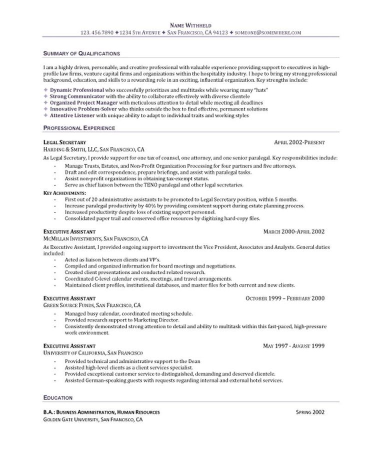 The 25+ best Funciones asistente administrativo ideas on Pinterest - sample resume executive assistant