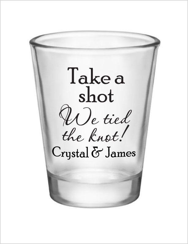 15oz Shot Wedding Ideas Personalized Wedding Favors Shot Glass