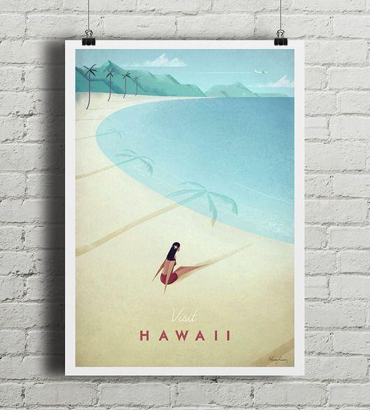 plakaty-Hawaje - vintage plakat A4