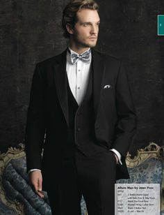 charcoal grey suit silver bow tie - Google Search