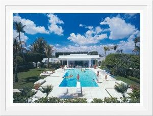 Slim Aarons Pool In Palm Beach Framed  ww.st-barts.com.au