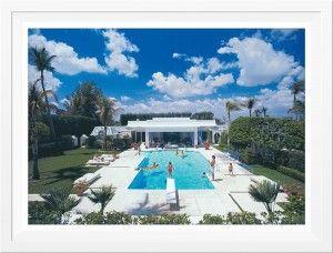 Slim Aarons Pool In Palm Beach Framed  ww.st-barts.com.au