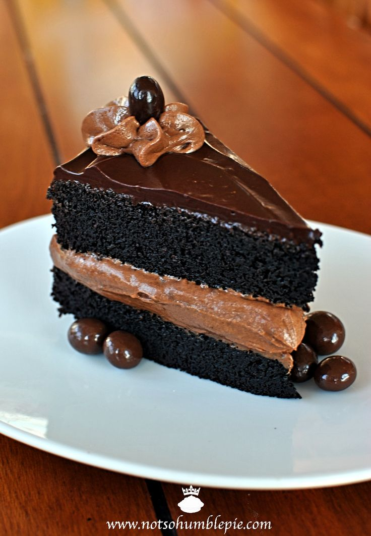 Midnight Sin Chocolate Cake Recipe ~ Says: a rich, moist chocolate cake. A simple, reliable chocolate cake recipe for folks who love their cakes uber-moist-a-licious.