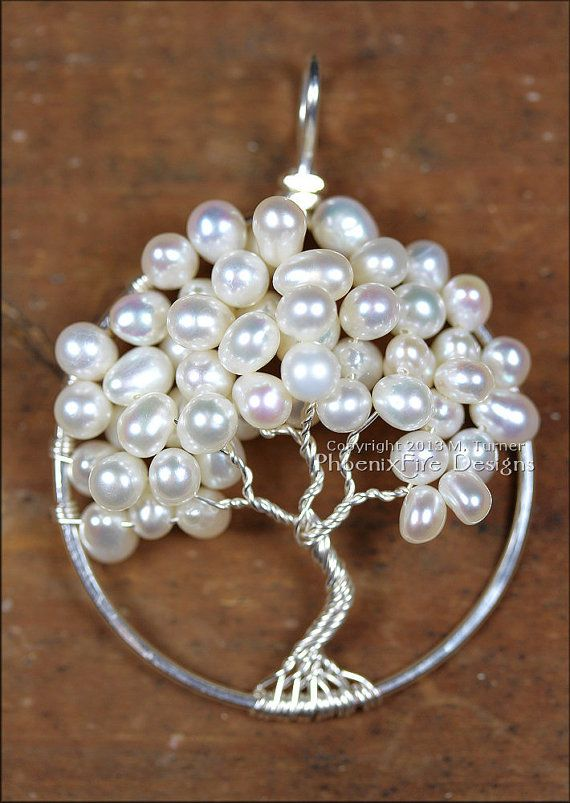 Freshwater Pearl Wedding Tree of Life by PhoenixFireDesigns