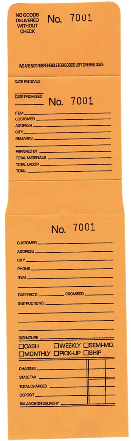 Other Jewelry Design and Repair 494: Jeweler S 3 Part Job Envelopes #0001-1000 -…  – Jewelry Designs