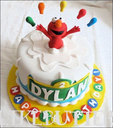 Edible Fondant Elmo Cake Topper By LikeButter 2800