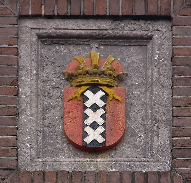 Inspiration: plaque with the coat of arms of Amsterdam, the Netherlands.