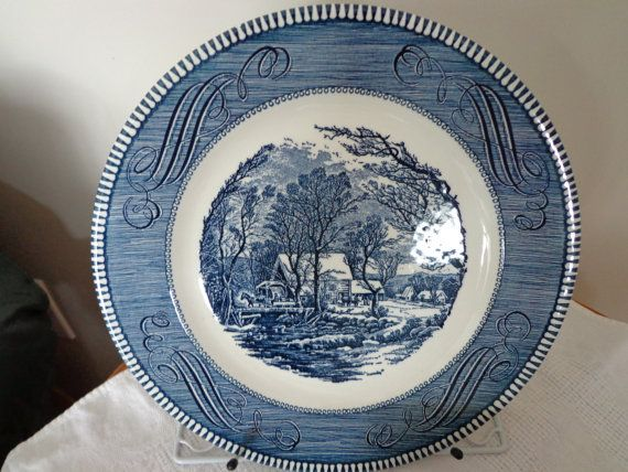 Old Grist Mill by Currier u0026 Ives China Dinner by ThePearlSwan $4.99 & 10 best Currier u0026 Ives images on Pinterest | Currier and ives ...