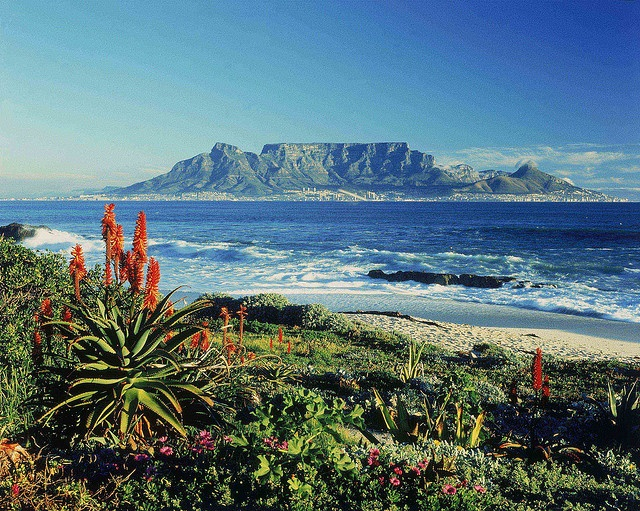 """The only natural site on the planet to have a constellation of stars named after it - Mensa, meaning """"the table"""".    Table Mountain - South Africa by South African Tourism, via Flickr"""