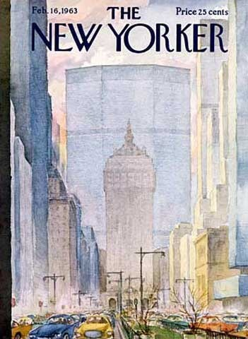 The New Yorker Magazine Cover: Park Avenue Looking South