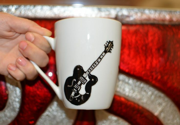 Rock your life mug- hand painted mug