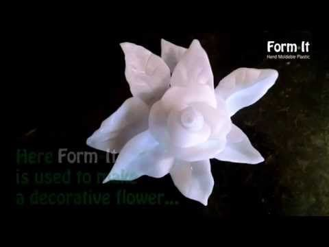 Make a decorative flower with Form*It hand moldable plastic - YouTube