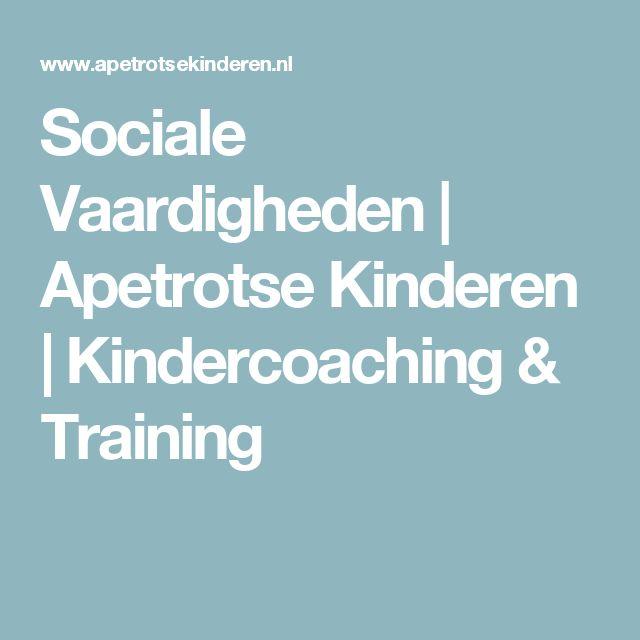 Sociale Vaardigheden | Apetrotse Kinderen | Kindercoaching & Training