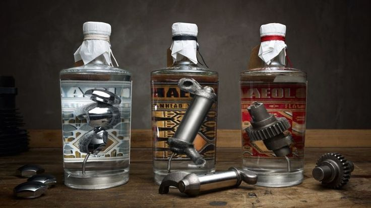 You can now spend $1,000 For Gin With Old Harley-Davidson Parts In It