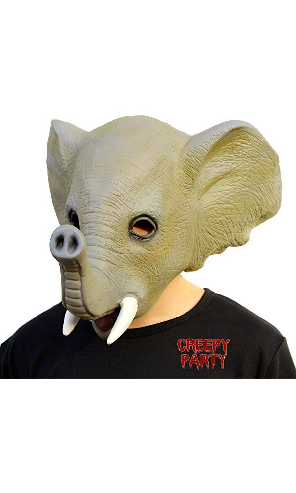 CreepyParty Deluxe Novelty Halloween Costume Party Latex Animal Head Mask Elephant Best Price