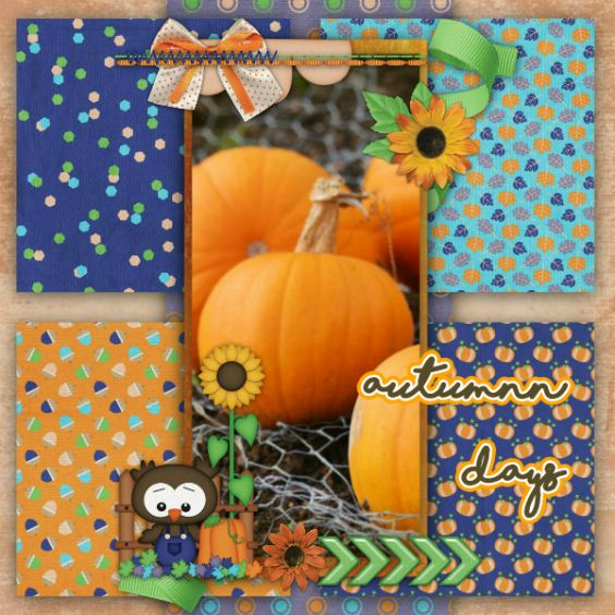 Layout created using Autumn Days Bundle by Heather Z Scraps and font Shorelines.  http://store.gingerscraps.net/Autumn-Days-BUNDLE-by-Heather-Z-Scraps.html