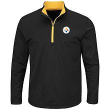 Men's Majestic Pittsburgh Steelers Across the Line Pullover