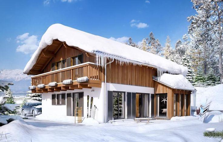 16 besten alpenl ndische h user bilder auf pinterest for Landhaus bauen