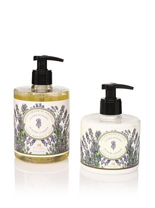 Panier des Sens Relaxing Lavender Liquid Soap and Hand and Body Lotion, Set of 2
