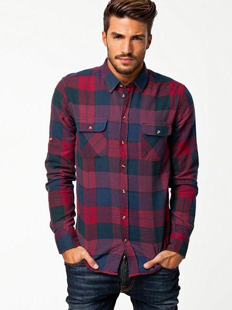Jenkins Shirt - Minimum - Wine Red - Shirts (Men) - Clothing - Men
