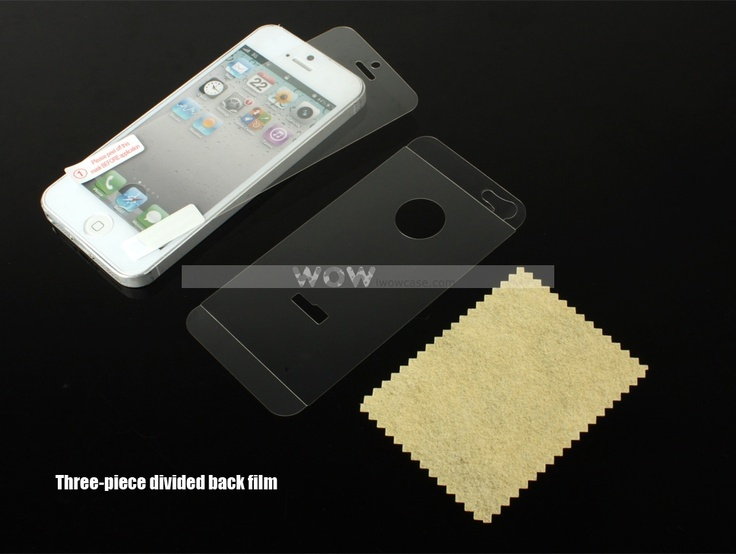 WOWCase, iPhone5 Front Three-Piece Divided Back Film-Clear [044135] : iPhone Case, iPad Case iwowcase.com