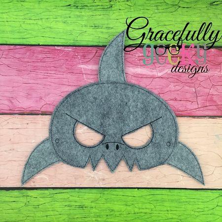 Shark Mask Mask Embroidery Design - 5x7 Hoop or Larger