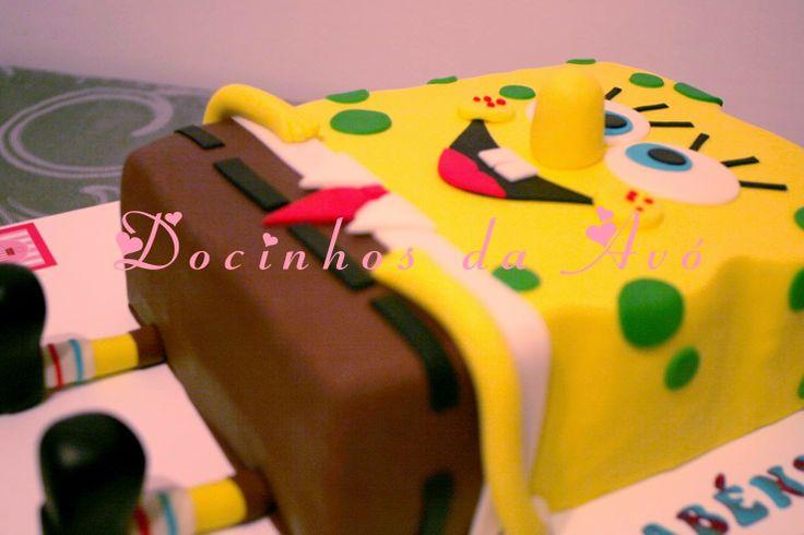 Docinhos da Avó - Cake Design: Bolo Sponge Bob