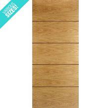 WoodDoor+ Internal Pre-Finished Oak Walnut Panelled Jerez Door