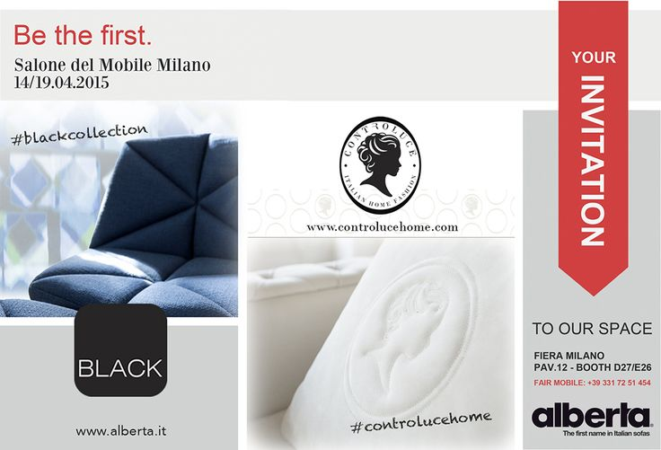 We are pleased to invite You to visit us at Milano furniture Fair, PAV 12 Booth D27 - E26. Milano, 14-19 April, 2015  #Milano #furniture #fair #2015 #furniturefair #designweek