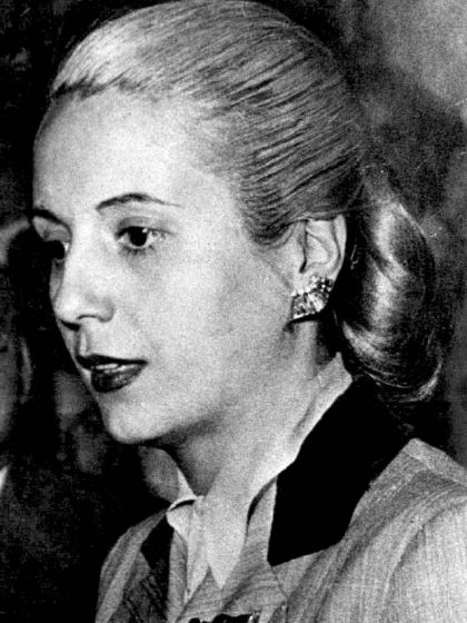 Señora Eva Duarte de Perón.