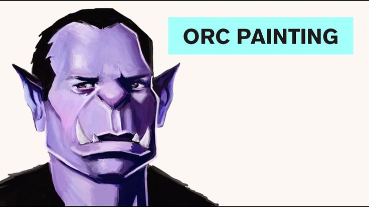 Orc - Time Lapse Painting  #art #painting #drawing #illustration #orc #tutorial #youtube #youtuber #blog #artblog #blogger #artblogger #vampire #fantasy #tooth #teeth #ears #portrait #orcportrait #timelapse #time #lapse #speedpainting