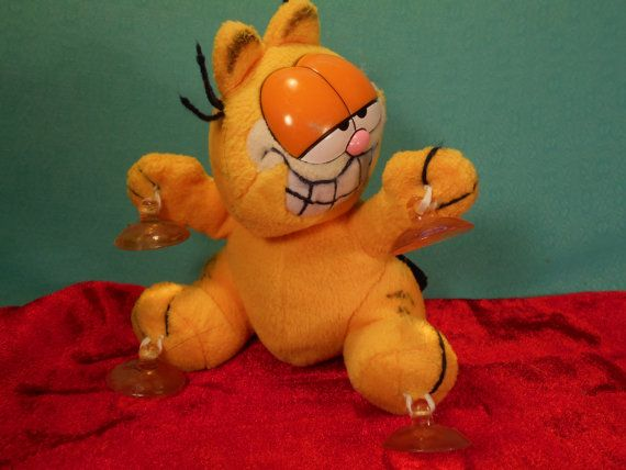 Garfield The Cat Suction Cup Vintage Car Window by SETXTreasures