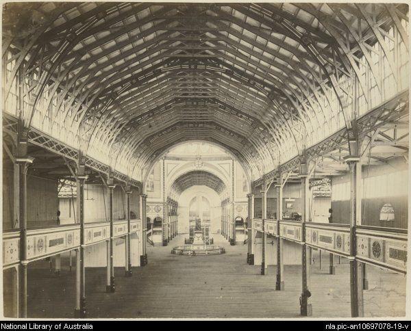 Interior of Garden Palace, Sydney International Exhibition Building 1879