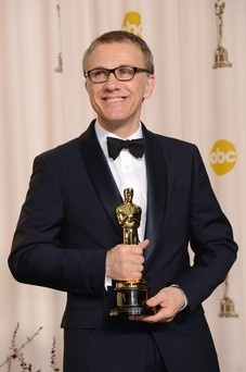 Actor Christoph Waltz, winner of the Best Supporting Actor award for 'Django Unchained'