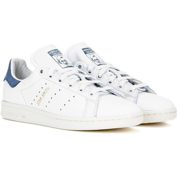 Adidas Originals Stan Smith Leather Sneakers ($125) ? liked on Polyvore  featuring shoes,