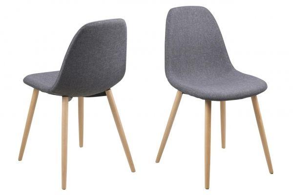 Krzesło Edi Grey szare krzesła skandynawskie
