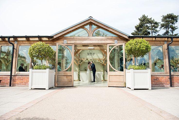 Orangery wedding portrait Gaynes park