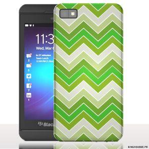 Coque BlackBerry z10 Zig-Zag Vert | Housse rigide pour téléphone portable. #BlackBerry #Z10 #ZIGZAG #Vert