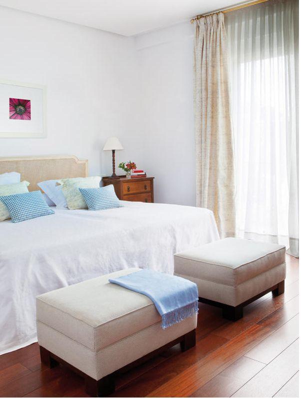 Un hogar clásico renovado  #hogar #decoración #home #deco #habitación #dormitorio #clásico #azul #blanco #luz #natural www.hogardiez.com