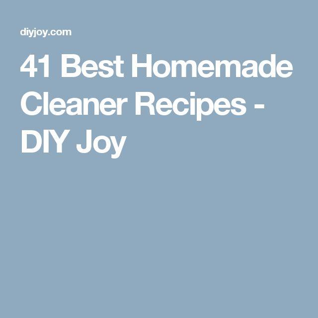 41 Best Homemade Cleaner Recipes - DIY Joy