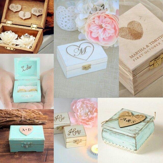 Вместо подушечки для обручальных колец можно выбрать стилизованную деревянную шкатулку #wedding #свадьба