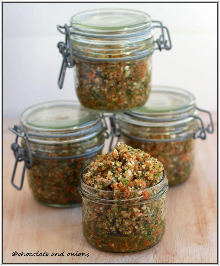 Selbst gemachte Gemüsebrühe... Geschenke aus dem Glas 6