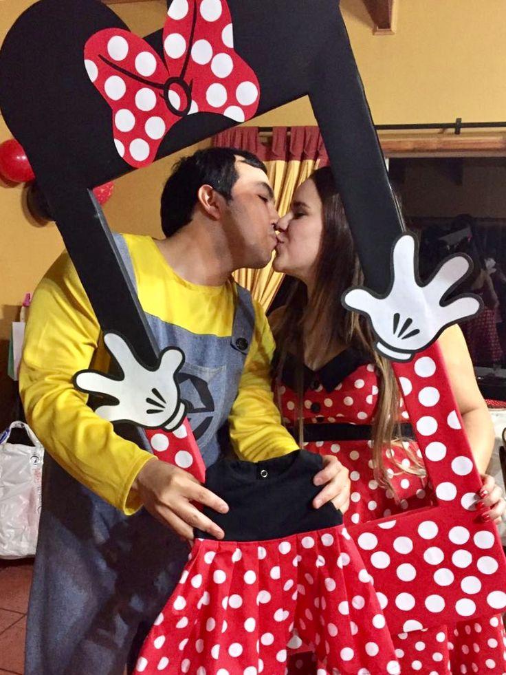 Marco de fotos instagram Minnie Mouse Baby Shower DIY