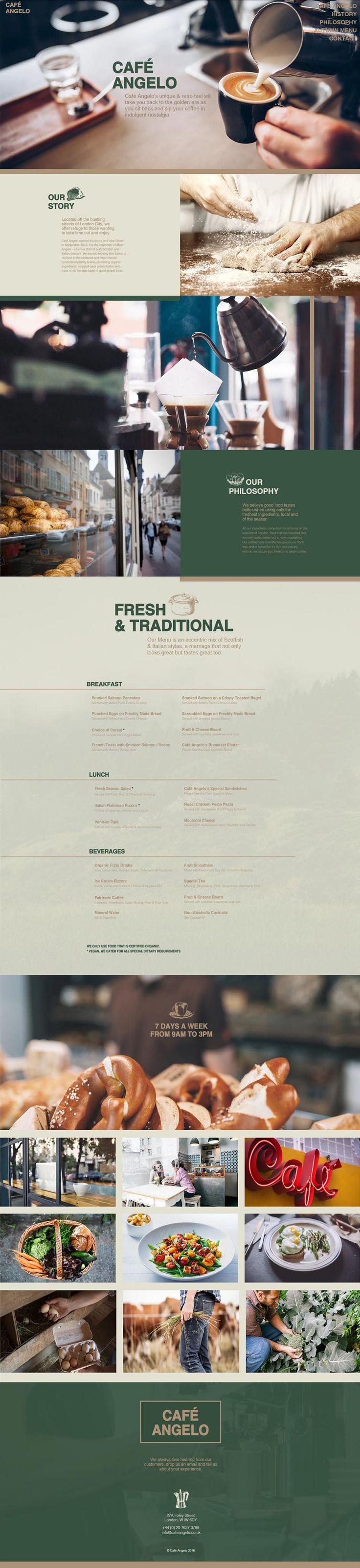 Wix Website Design for Café Angelo #website #web #webdesign #wix @wixcom
